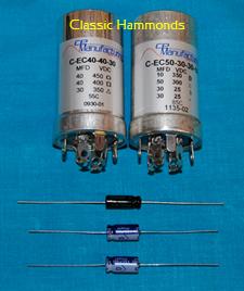 Hammond AO-28 Electrolytic Capacitor Kit - Hammond Organ Parts