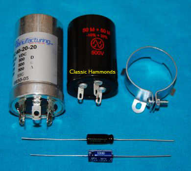 Hammond AO-29 Electrolytic Capacitor Kit