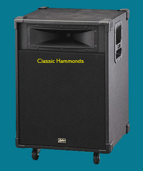 Leslie 2121 Stationary Lower Speaker Unit - Black Tolex